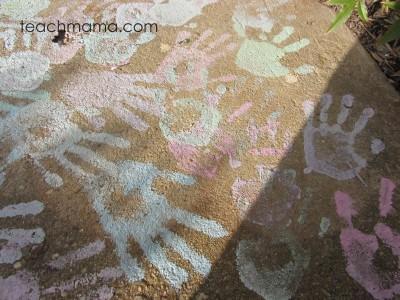 chalk paint graffiti