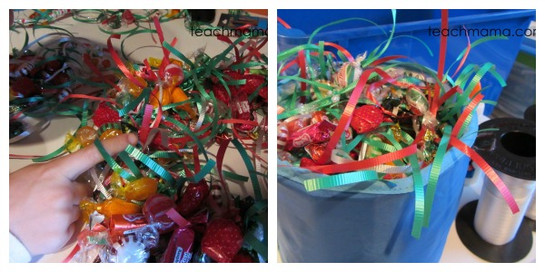 how to make a candy wreath candy
