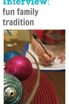 new year's interview: fun family tradition