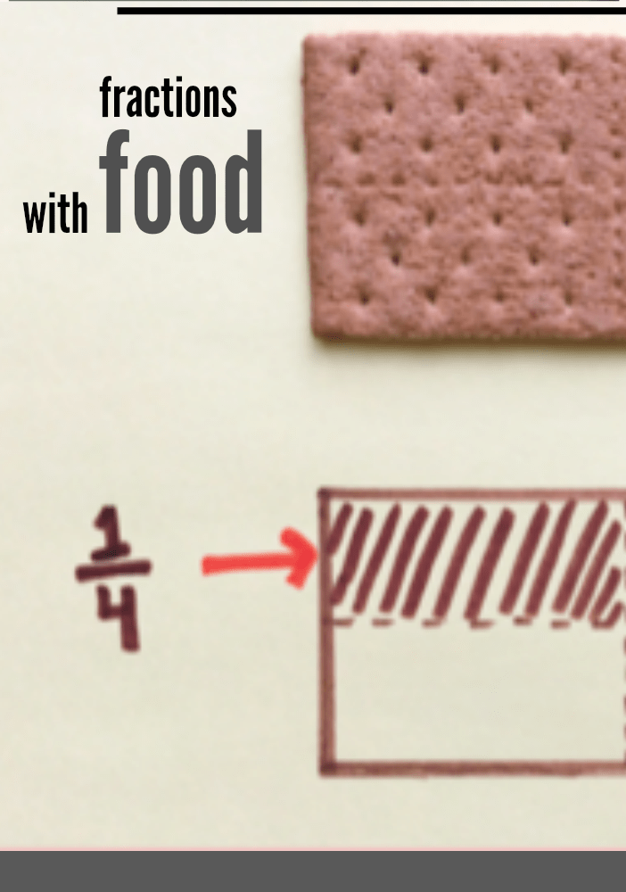 fractions with food cover