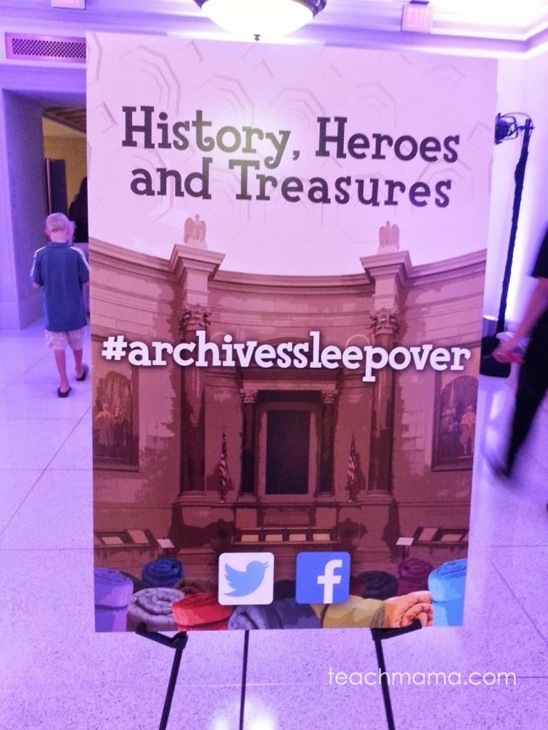 national archives sleepover | teachmama.com