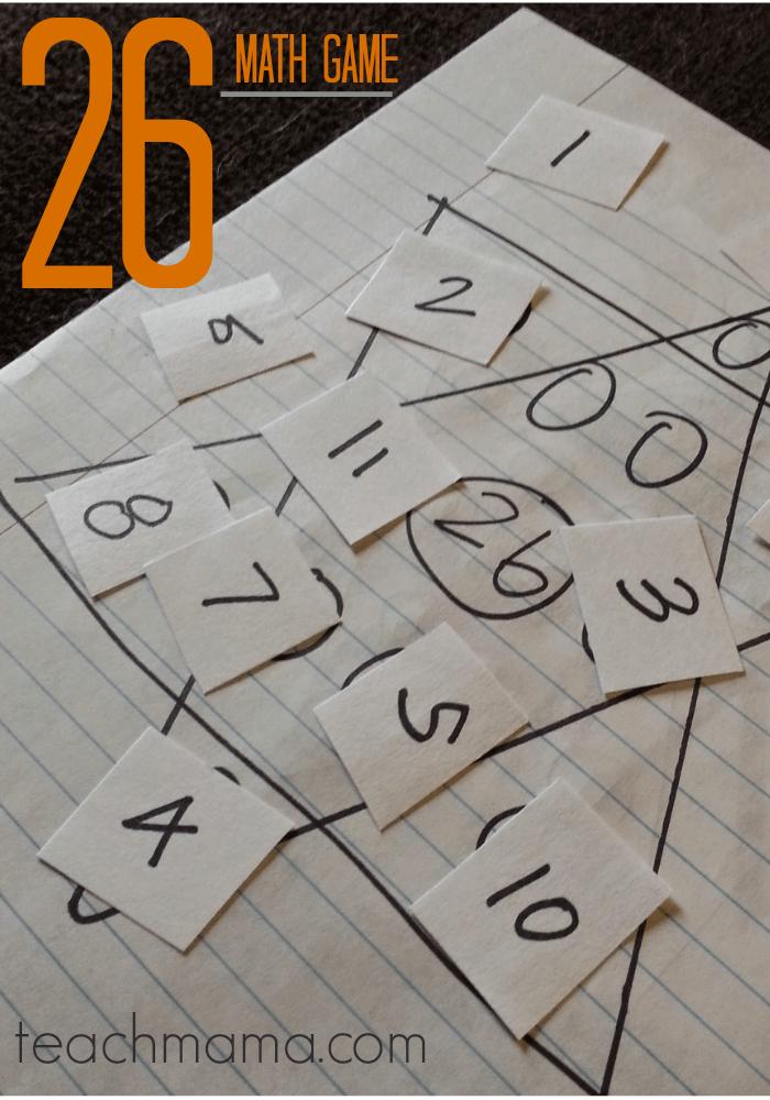 26 triangles: tricky, fun math game