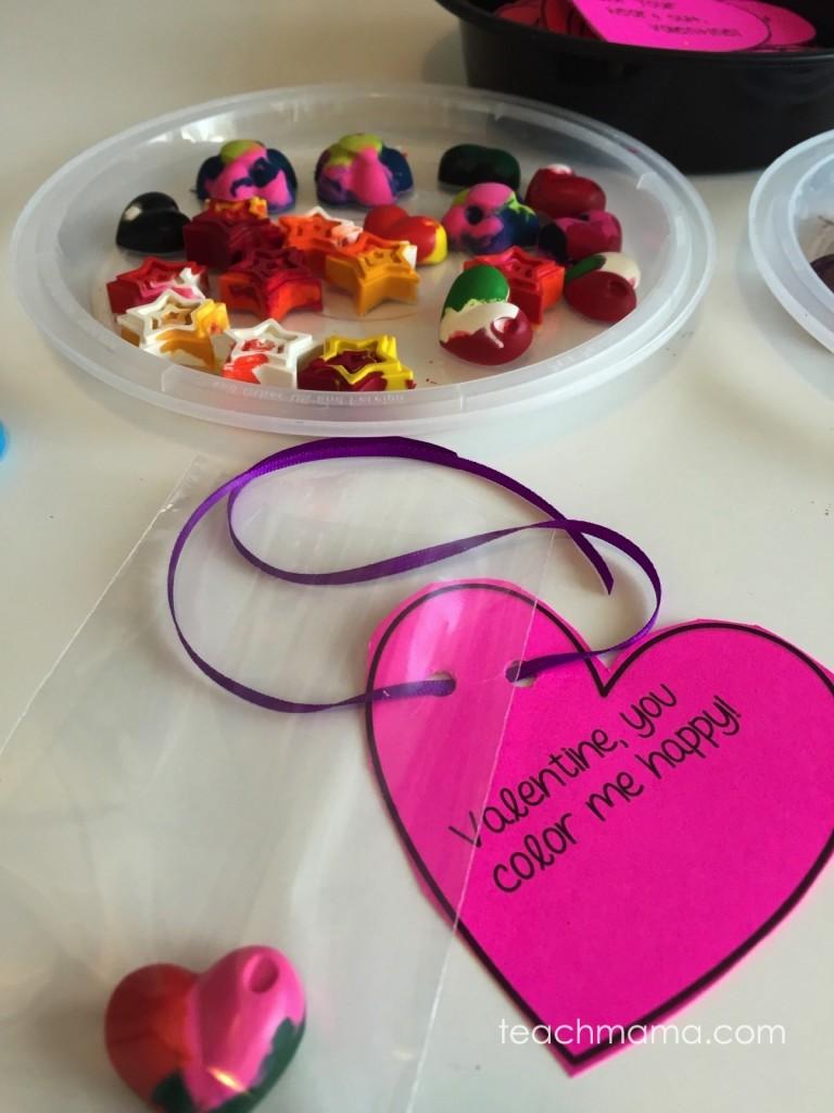melted crayon valentines | handmade valentines | teachmama.com
