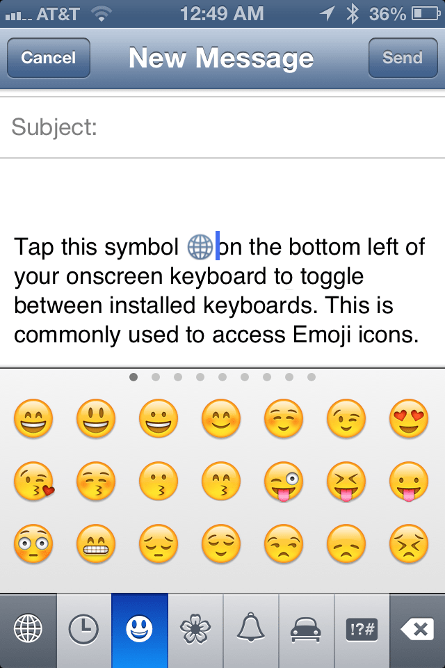 how to add emoji to your text messages