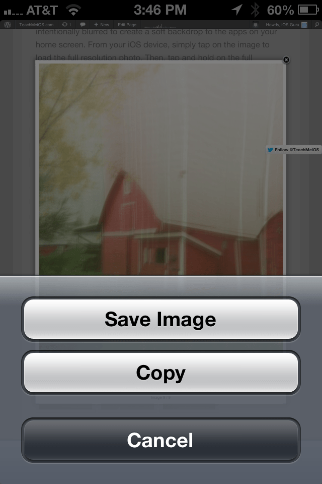 How to save an image and set it as your iPhone, iPad (Mini), or iPod Touch Background