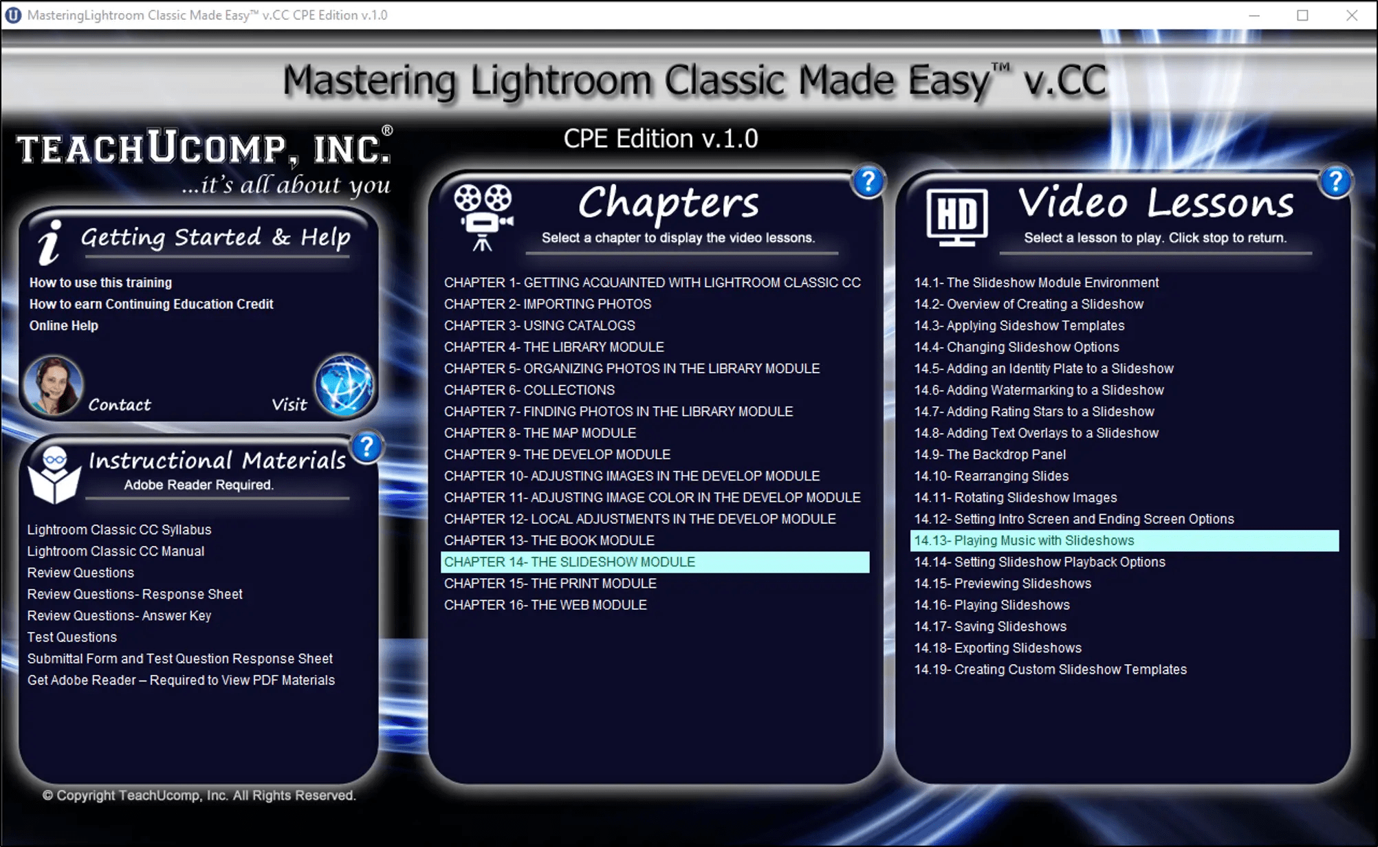 Cc Tutorial Buy Lightroom Classic Cc Training At Teachucomp Inc Product