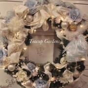 Baby Blue Christmas Christmas Wreath