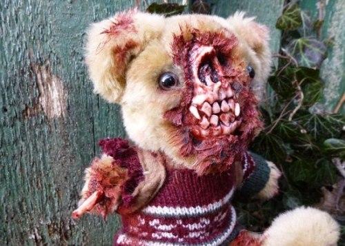 UndeadTeds zombie Teddy bears by Phillip Blackman, Ipswich, Suffolk, Britain - 01 Feb 2013