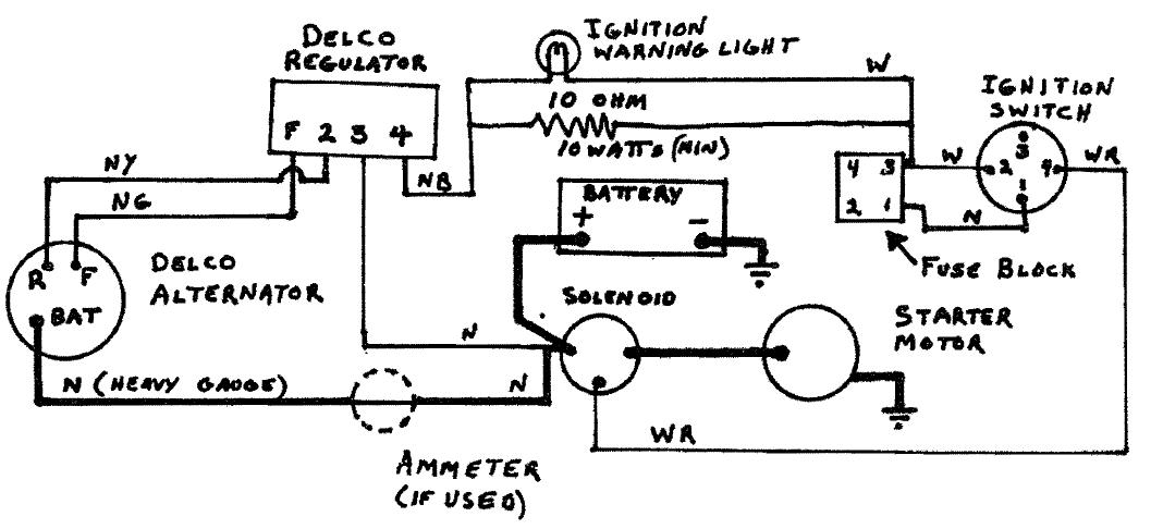 delco marine alternator ledningsdiagram