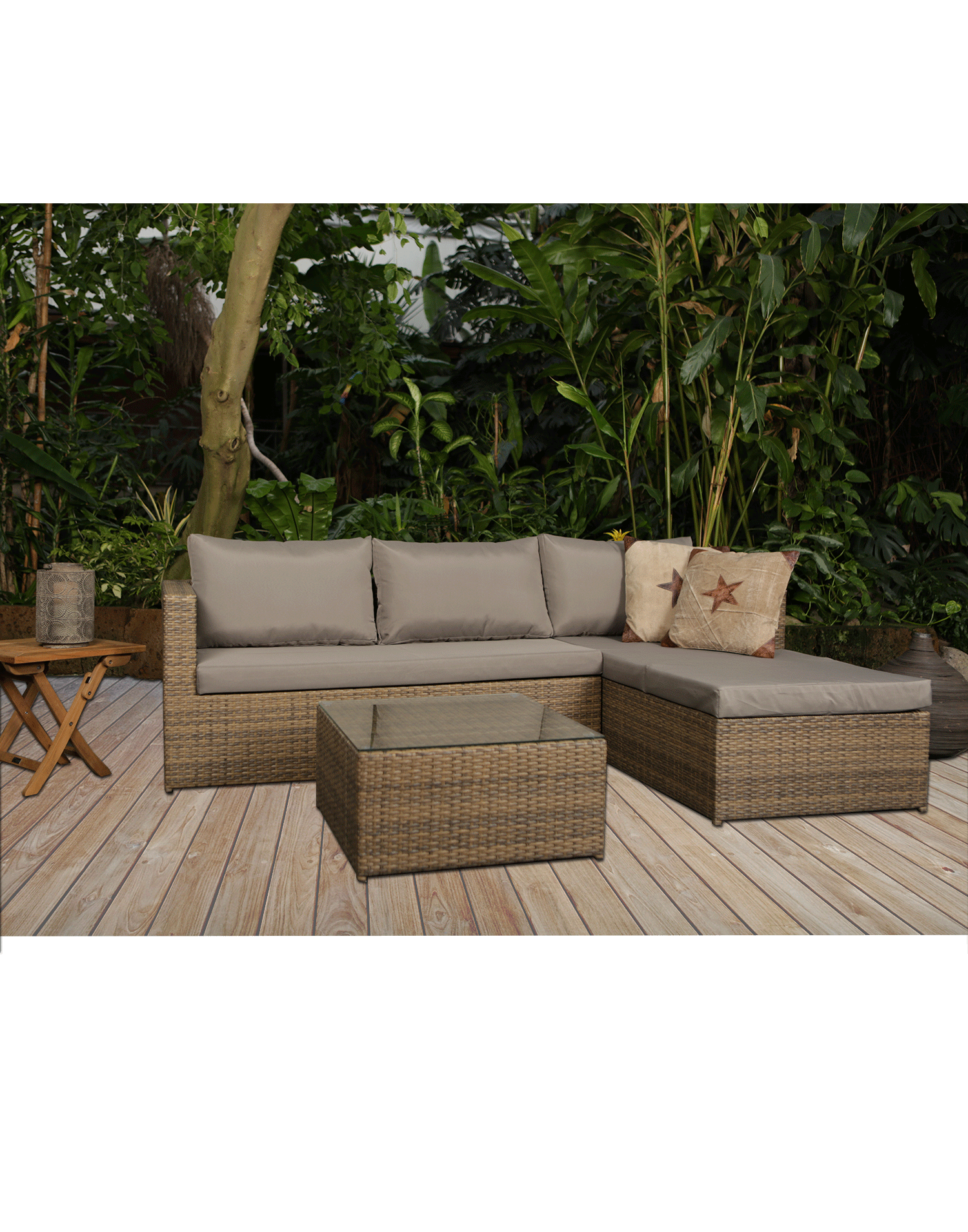 Garten Moebel Rattan Lounge Set Malibu Top Aktion Teakland Ch