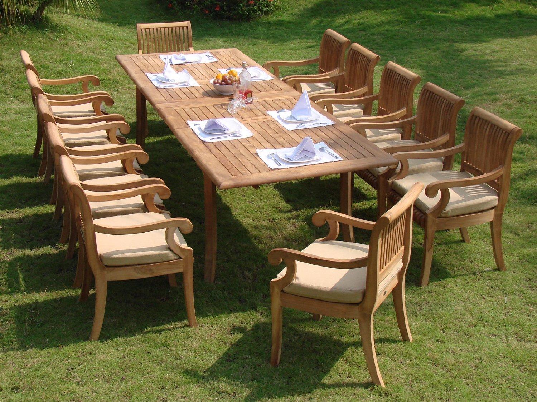 7 Piece Teak Outdoor Dining Set Antigua Teak 7 Piece Outdoor