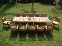 13 Piece Luxurious Grade-A Teak Dining Set Review - Teak ...