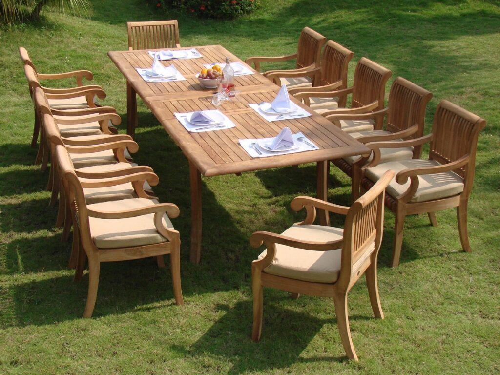 13 Piece Luxurious Grade A Teak Dining Set Review Teak