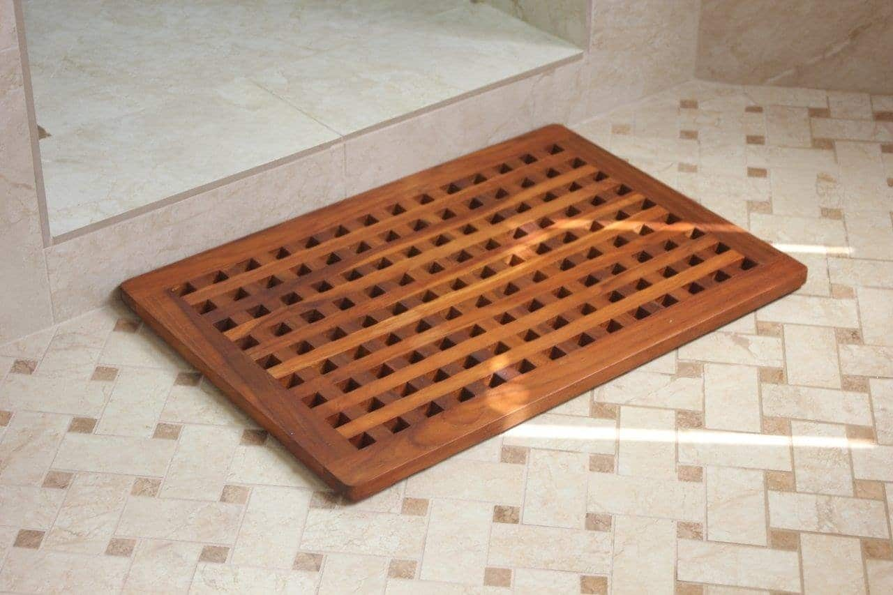 Shower Mat The Luxury Of A Teak Shower Mat Teak Patio Furniture World