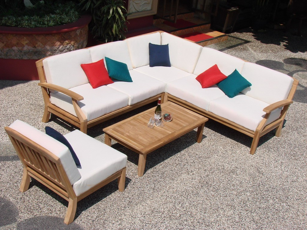 Garden Furniture Corner Sofa Ebay Details About 5 Pc Teakwood Teak Wood Indoor Outdoor Patio Sectional Sofa Set Pool Samurai