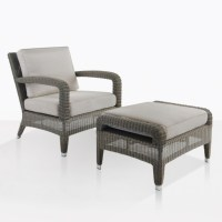Outdoor Chair And Ottoman Set - Frasesdeconquista.com
