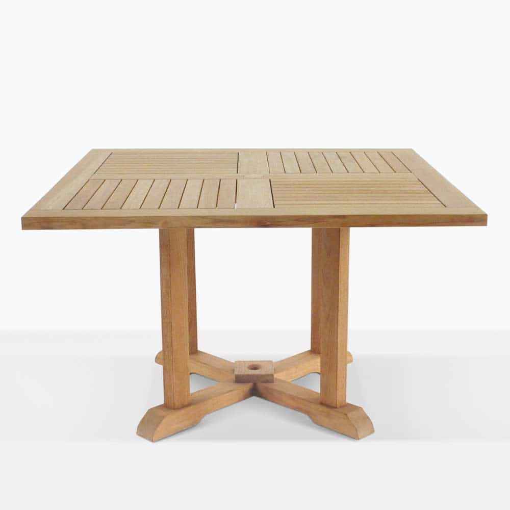 Square Teak Pedestal Tables Outdoor Furniture Teak Warehouse