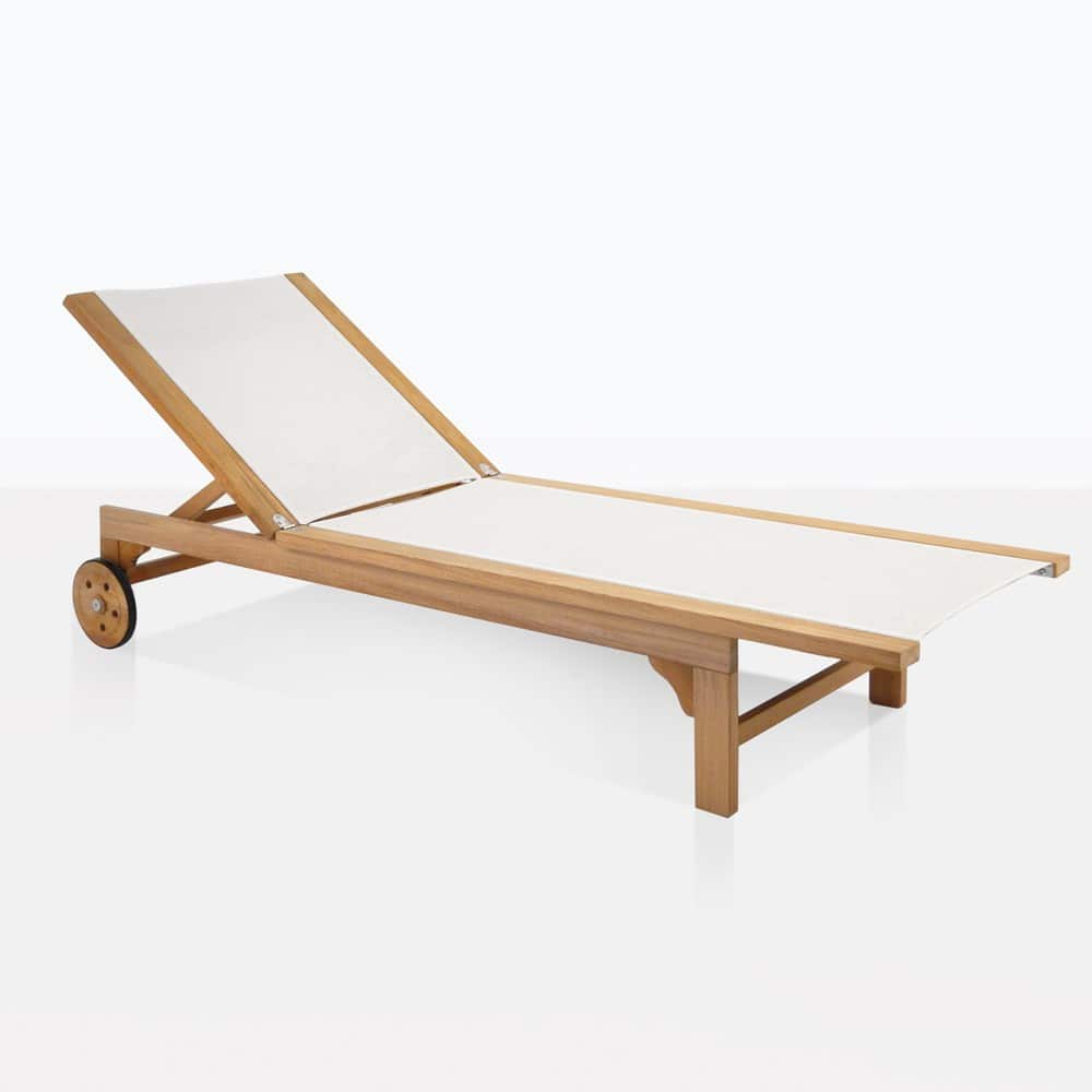 White Sun Lounge Sun Loungers Chaise Lounges And Daybeds Teak Warehouse