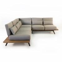 Platform Reclaimed Teak Sectional | Outdoor Patio Sofa ...