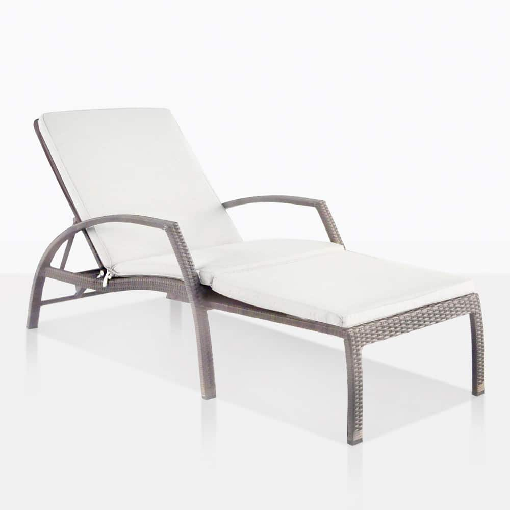 White Plastic Sun Loungers Sam Adjustable Outdoor Sun Lounger Kubu