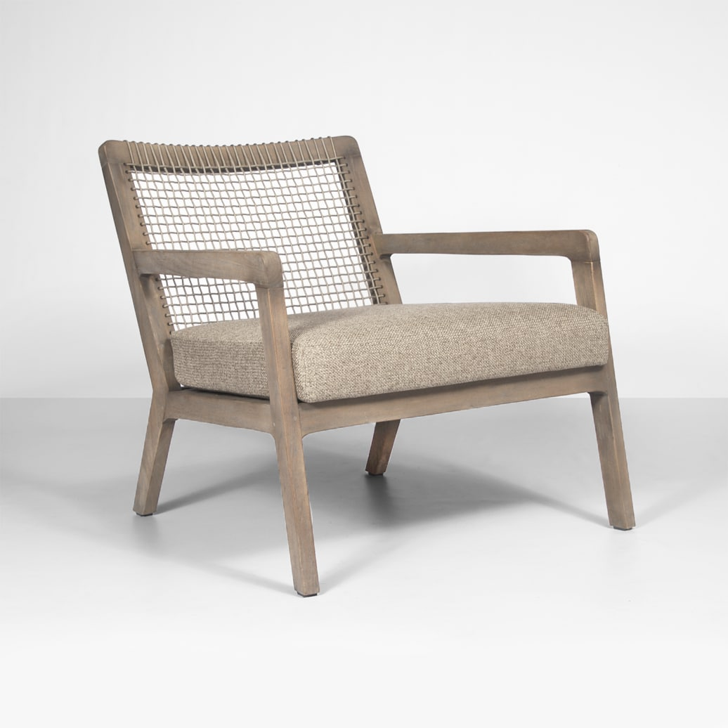 Gazzoni Outdoor Rope And Teak Relaxing Chair Teak Warehouse