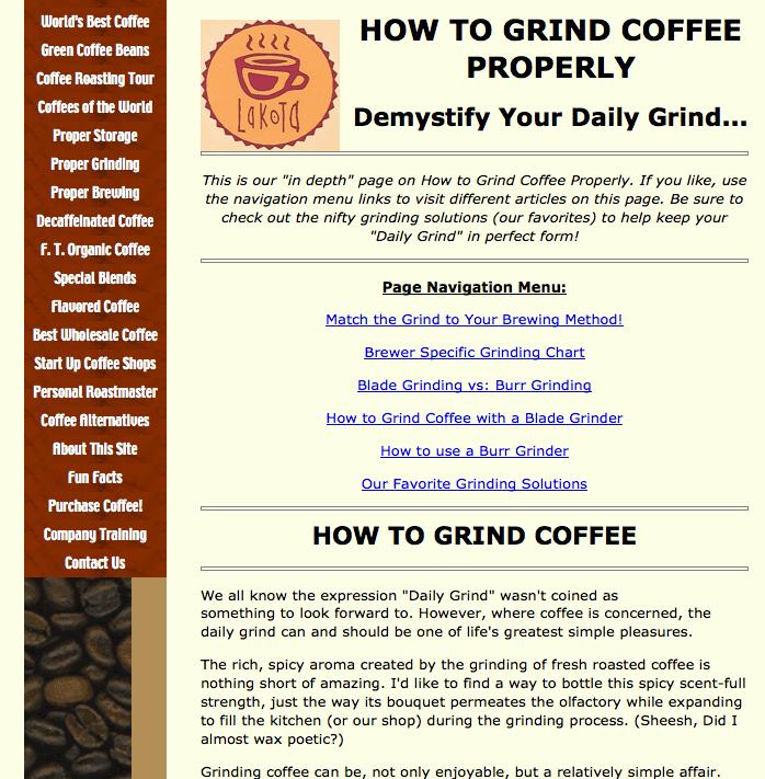 Skyscraper Technique (Grind Coffee Example)