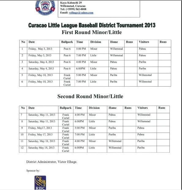 Little League trying to make a better person out of each player - how to make a league schedule