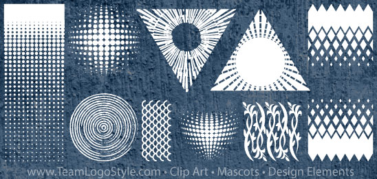 Halftone Design Elements