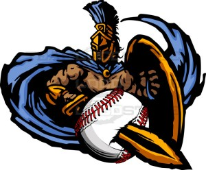 Trojan Baseball Graphic -Vector Clipart Design