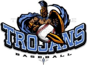Trojans Baseball Logo