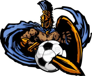 Trojan Soccer Graphic -Vector Clipart Design