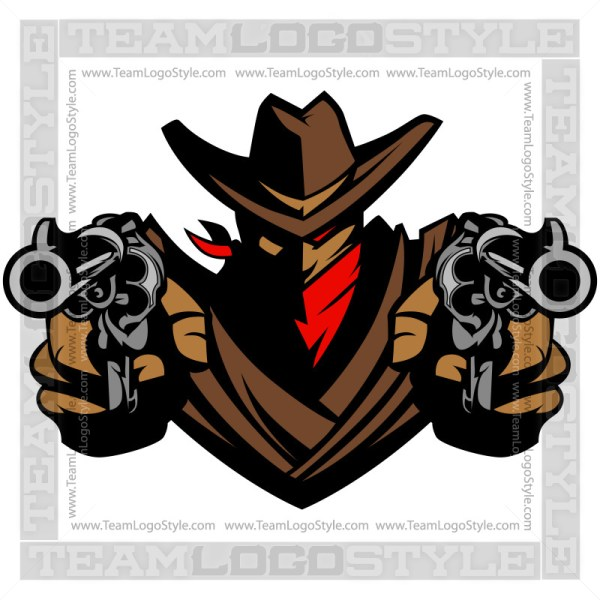 Cowboy Graphic - Vector Mascot Clipart