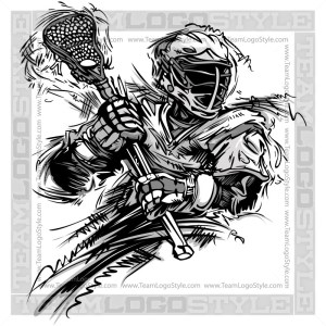 Vector Lacrosse Design - Lacrosse Player Clipart