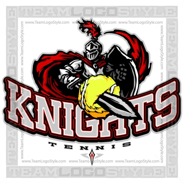 Knights Tennis Logo - Clipart Image