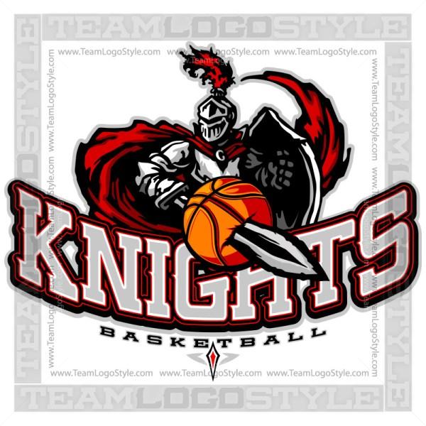 Knights Basketball Logo - Clipart Image