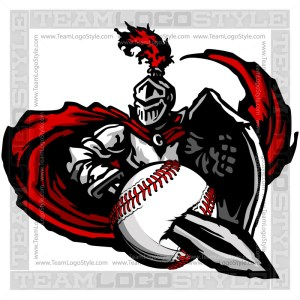 Knight Baseball Graphic -Vector Clipart Design