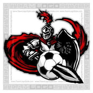 Knight Soccer Graphic -Vector Clipart Design