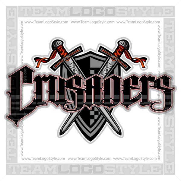 Crusaders Team Logo - Vector Clipart Image
