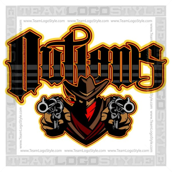 Outlaws Team Logo - Vector Clipart Image