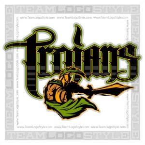 Trojans Team Logo - Vector Clipart Image