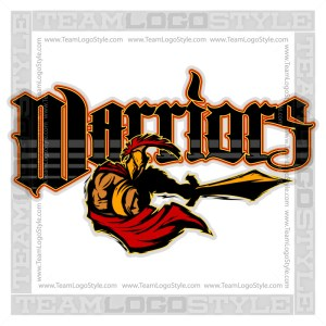Warriors Team Logo - Vector Clipart Image