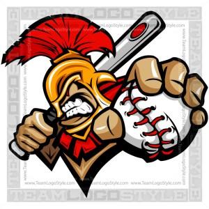 Spartan Baseball Logo - Vector Clipart Image