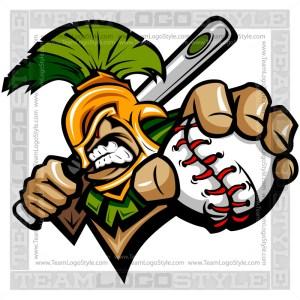 Trojan Baseball Logo - Vector Clipart Image