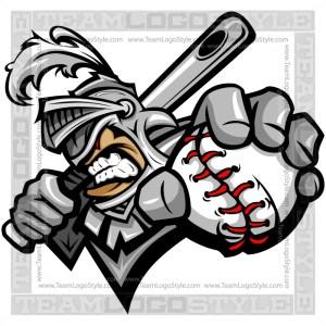 Knight Baseball Logo - Vector Clipart Image