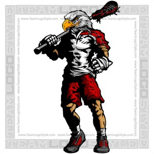 Raptor Lacrosse Silhouette - Vector Clipart Image