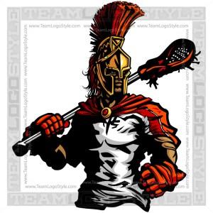 Spartan Lacrosse Logo - Vector Clipart Image