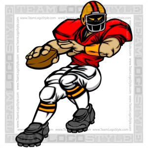 Quarterback Cartoon - Sports Clipart Image