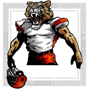 Cougar Football Clipart Vector Mascot Image