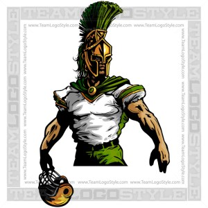 Trojan Football Clipart Vector Mascot Image