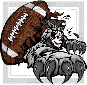 Wildcats Football Graphic Vector Clipart Image